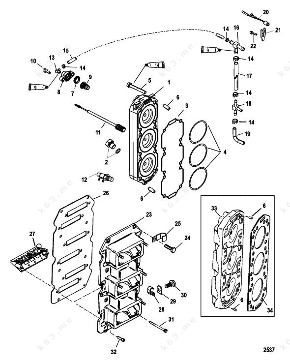 mercury 150 xr6 parts diagram