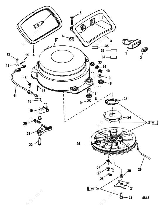 Mercurymariner 50 3 Cyl Starter Assembly Manual
