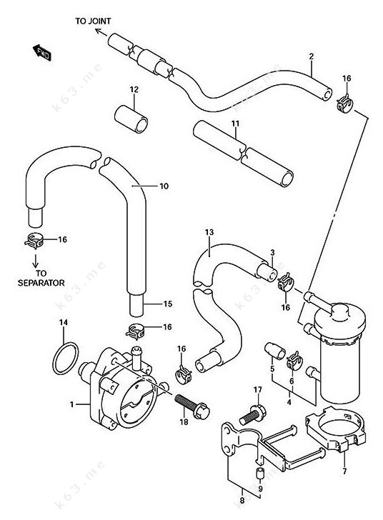Older Years Suzuki Df 140 Fuel Pump Parts Catalog