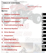 2006 Arctic Cat DVX 400 Service Manual