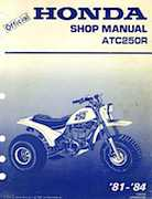 1981-1984 Official Honda ATC250R Shop Manual