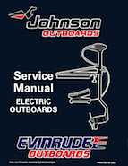 "1996 Johnson Evinrude ""ED"" Electric Outboards Service Manual, P/N 507119"