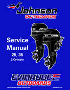 "1998 Johnson Evinrude ""EC"" 25, 35 HP 3-Cylinder Outboards Service Manual"