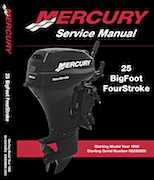 1998+ Mercury Mariner 25HP Bigfoot Service Manual