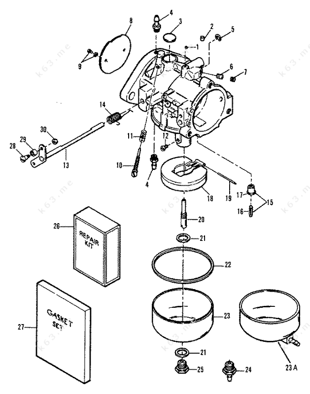 Mercury Marine Mercury Outboard 1002201rb Carburetor Diagram And Parts