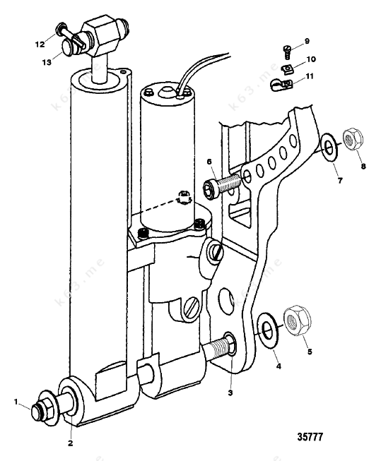 Mercury Force 40 H P  1999  Trim Mounting  Hydraulic